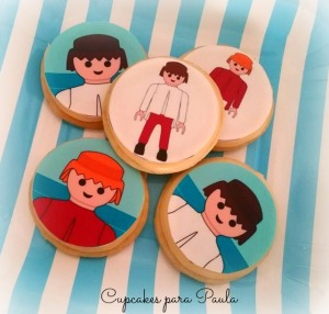 Galletas playmobil con oblea